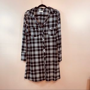 Bobbie Brooks Dresses - Plaid Long Flannel Dress   114